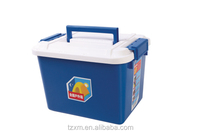 outdoor plastic removable storage bin with latchs lid