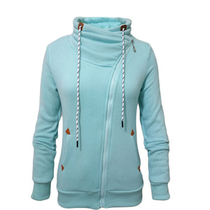 2017 Women zipper sports coat add wool warm collar fleece winter clothes