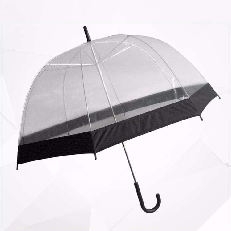 New Produce Full Screen Printing Cheap Dome Clear Transparent Umbrella