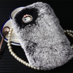 "Luxury fluffy hair Phone Cover case for 5s 4s cases For iphone 5 5s 6 4.7"" 6 plus 5.5"" Cover Hair Soft fur Skin Back Case"