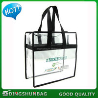 Promotional custom clear PVC tote bag