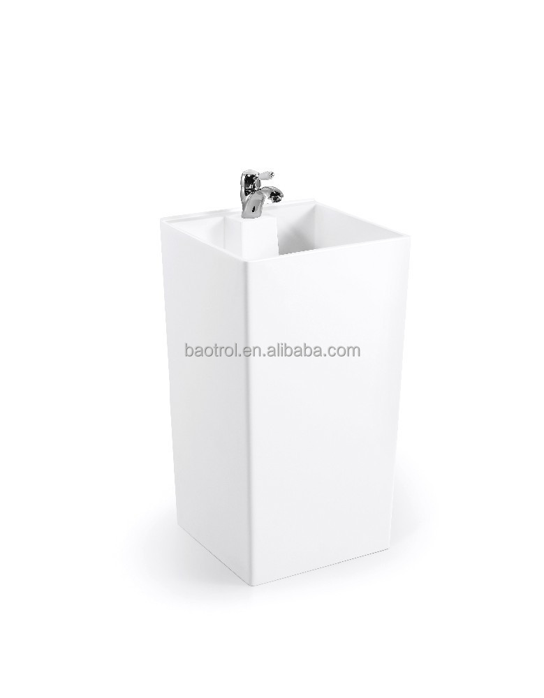 Guangdong manufacturer supply small size basin acrylic resin wash basin