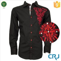 Custom picture of pant and shirt with embroidery, men's casual shirt