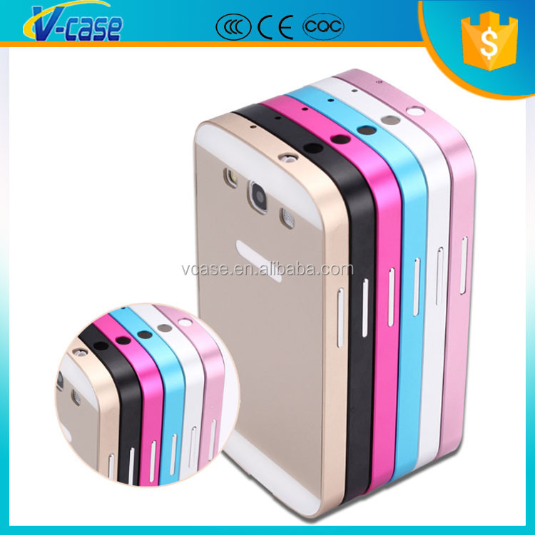 VCASE Luxury Ultra Thin Slim Fit Aluminum Frame Metal Bumper Case for Samsung Galaxy S3 I9300