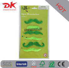 Cute green false beard for Ireland day decorations St. day