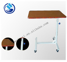Adjustable used hospital bedside tables,over bed table