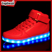 Wholesale 2016 Fashion Led Light Up Led Shoes Glow Sneakers Running Led Shoes