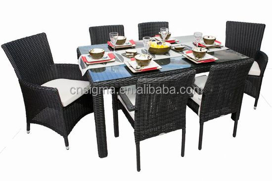 2017 Sigma promotion restaurant classic rattan simple design dining table