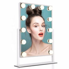 Lighted Vanity Mirror with <strong>12</strong> <strong>x</strong> 3W Dimmable LED Bulbs and Touch Control Hollywood LED Beauty Salon Mirrors