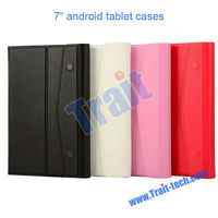 "Universal 7"" Android Tablet Cases / PU Flip Stand Leather Tablet Cover"