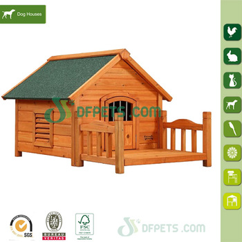 DFD1704 Factory Hot Sell Cheap Wooden Dog House With Outdoor Run