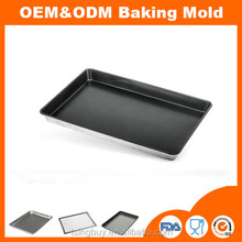 OEM&ODM different size aluminum baking sheet pans/flat baking tray/full size bun pan to Amazon market