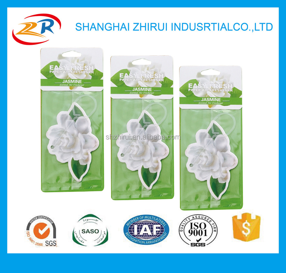 flower shape Factory Cheap Wholesale Promotion Custom hanging Paper Car Air Freshener For Car