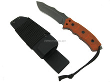 4.5-inch Sharp and Durable Hunting Knife with Orange G10 Handle and sheath