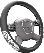 High Quality auto 3 wheel anime car steering wheel cover rubber covers