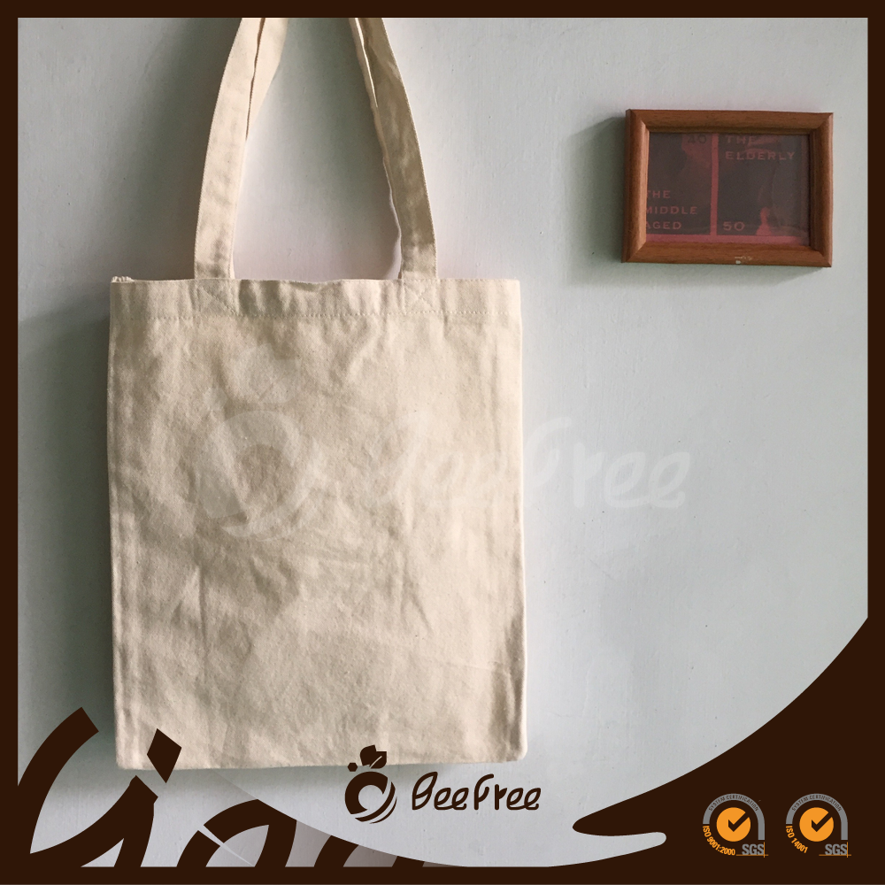 Eco-friendly Promotional Handmade Flat Custom Cotton Canvas Bag