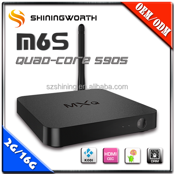 High Quality AML S905 Quad Core MXQ PRO tv box Made in China