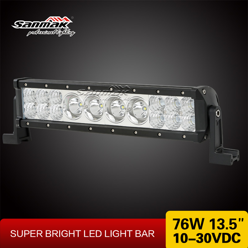 New exclusive combo beam 76w 13.5 inch cree led light bar offroad 4x4 led bar