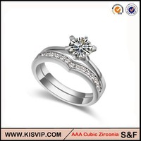 Ebay Supplier Factory Price Latest Wedding Ring Designs , 2014 New Luxury Zircon Gold Wedding Ring