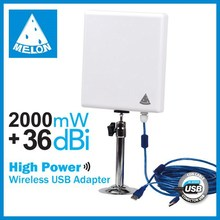 2000mW High power and 3km Long Range Wireless Adapter