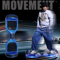Two Wheels Smart Self Balancing Scooters Electric Drifting Board Personal Adult Transporter Scooter Board with LED Light Blue