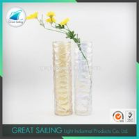 Brightly Clear Crystal Glass Vase Art Deco Glass Vase For Single Flower