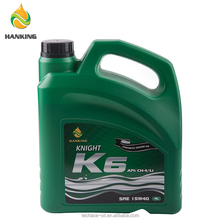 KNIGHT K6 15W40 CH-4/SJ 4L*4 Engine Oil Factories Brand Name Lubricants