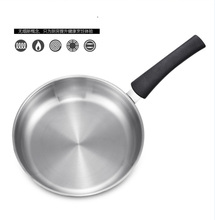 24CM Eco Friendly Durable Fry Pan Cookware Professional 3 Ply Stainless Steel Nonstick Fry Pan frying wok pan