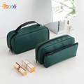 Encai Hand Multi-layer Cosmetic Bag Korean Small Square Bag Multi-functional Travel Toiletry Organizer Bag