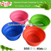 Reusable Food Grade Collapsible Silicone Pet Travel Water Bottle Bowl, Silicone Dog Bowl