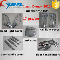 New ABS plastic light cover fuel tank cap D-MAX 2012 chrome kits new lsuzu dmax accessory cars exterior accessories