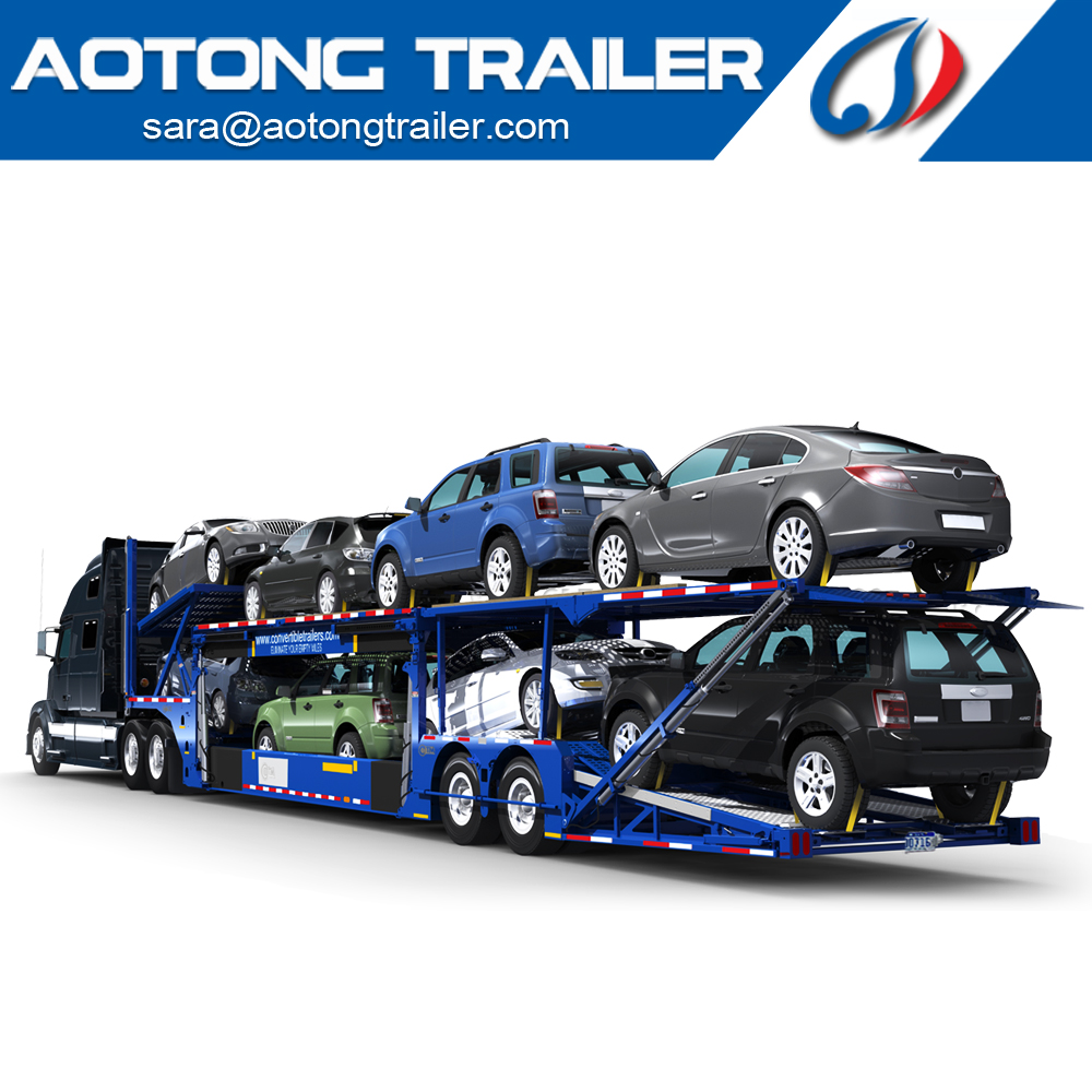 Manufacturer 6-8 cars 2/3 Axles Hydraulic Car Hauler/Car Carrier trailer/Car Transport Semi Truck Trailer for sale