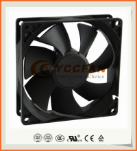 YCCFAN 12v 24v 48v nmb ball bearing 9225 DC axial cooling fan manufacturer