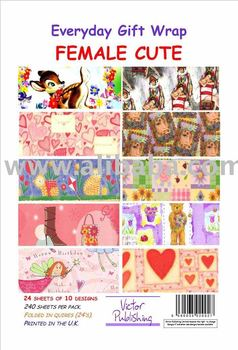 Female Cute Gift Wrap paper