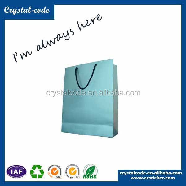 New fancy decorative luxury laminated sos paper carrier bag