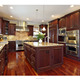 Luxury Classic American Cherry Solid Wood Kitchen with Gas Stove Cabinet and Cheap Kitchen Island