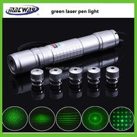 Multi functional18650 Battery Aluminum Green led Laser Flashlight