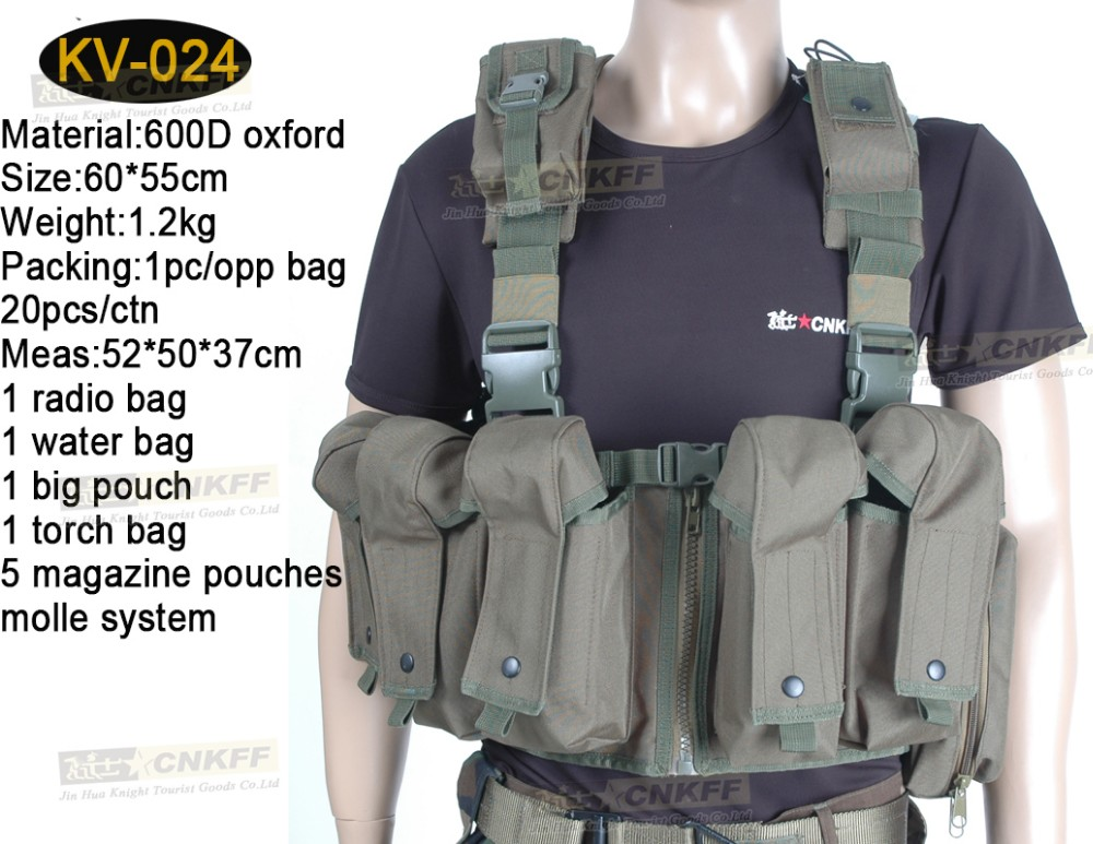 Tactical Military Protective Vest with One Water Bladder for Army