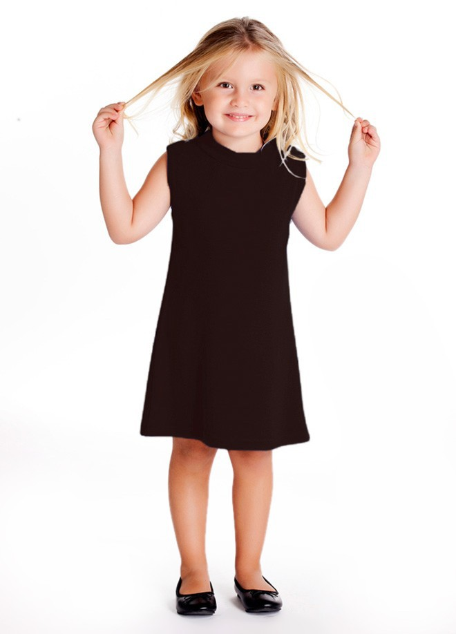 SLEEVELESS KNEE-LENGTH DRESS FOR CHILDREN