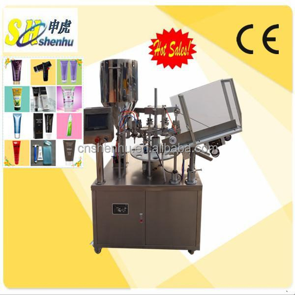 CE automatic widely used cream plastic tube filling and closing machine