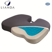 Custom Wholesale Adult Anti Slip Bottom Velour Cover Handle Hemorrhoid Gel Memory Foam Car Seat Wedge Cushion For Chair Cars