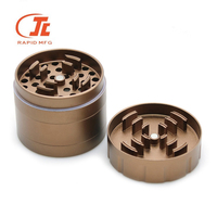 Wholesale Aircraft Grade Anodized Aluminum Tobacco Crusher Herb Weed Grinder