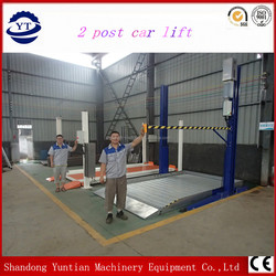 high quality two post car system with remote control
