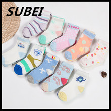 1-5 years old baby cute cartoon colorful cotton socks