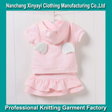 Wholesale Children Clothing/Short Sleeve Garment/Sweet Child Clothing Suits