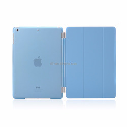 Detachable Rubberized Hard Smart Cover And Back Case for iPad 2 3 4 Air Mini Pro case, blue