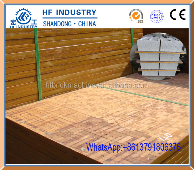 new condition bamboo waterproof bamboo pallet for block machine