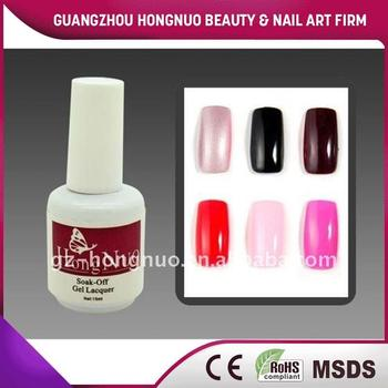 6 Colors Silver Black Violet Florid BabyPink / HotPink Soak Off UV Gel Polish 15ml HN1106