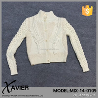 MIX-14-0109ladies chenille sweater Wool women cardigan winter white wool coats