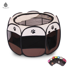 Factory Price Eight-square Collapsible Portable Pet Cat Puppy Cage